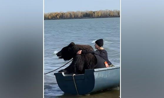 """Der lebende """"Teddybär"""" Archie und sein Frauchen Veronika Dichka verbringen gerne Zeit am Wasser."""