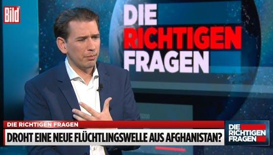 Bundeskanzler Sebastian Kurz im BILD-Talk.