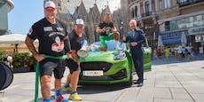 Muskelmann zog Auto von Kitzbühel nach Wien