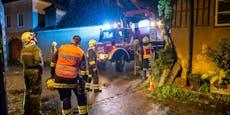 Hagel-Unwetter zerstört Dächer in der Wachau