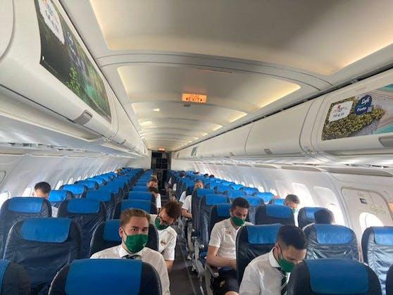 Die Rapid-Chartermaschine nach Prag.