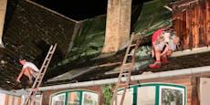 Faustdicke Hagelkörner beschädigten 120 Hausdächer