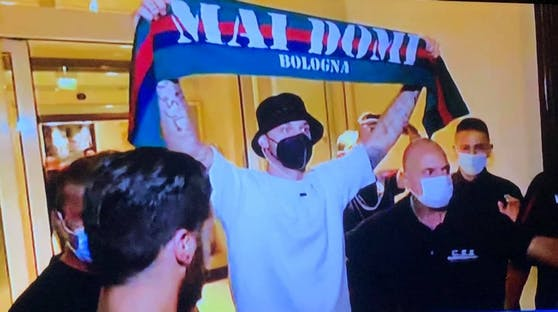 Marko Arnautovic bei seiner Ankunft in Bologna