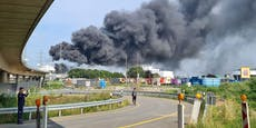 Giftwolke über Leverkusen nach Explosion im Chemiepark