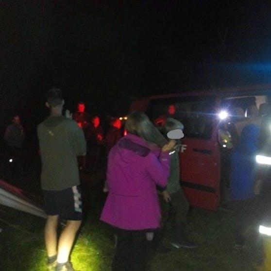Die Jungschargruppe musste von der Feuerwehr evakuiert werden.