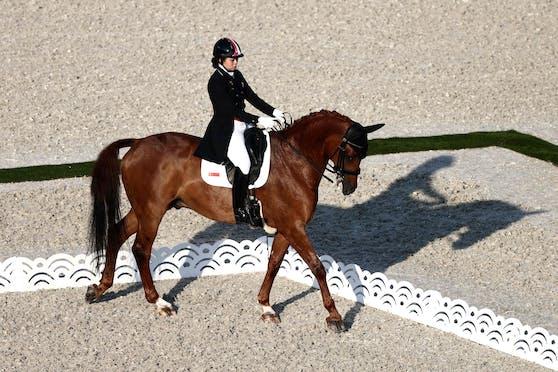Während der Einzelqualifikation musste Caroline Chew aus Singapur abbrechen.