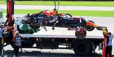 Red Bull protestiert nach schwerem Verstappen-Crash