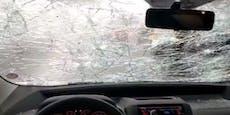 Schwerer Hagelsturm durchlöchert Autos in Italien
