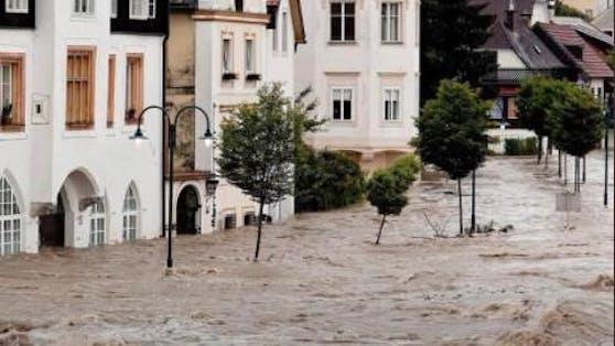 Mit diesem Hochwasser-Sujet warb Sat1 um Spenden.