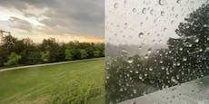 Video zeigt, wie Gewitter-Zelle über Wien zieht