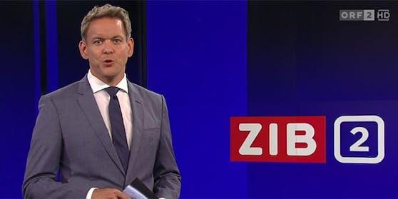 "War kurze Zeit sprachlos: ORF-""ZiB 2""-Moderator Martin Thür."
