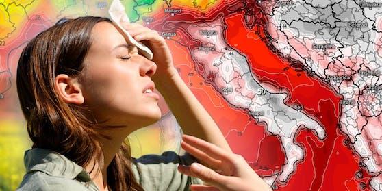 Das GFS-Wettermodell errechnet für 8. August eine neue Rekordhitze in Südeuropa.