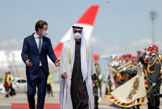 Mohammed bin Zayed Al-Nahyan, Sebastian Kurz