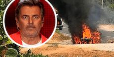 Schock im Urlaub – Auto von Thomas Anders in Flammen