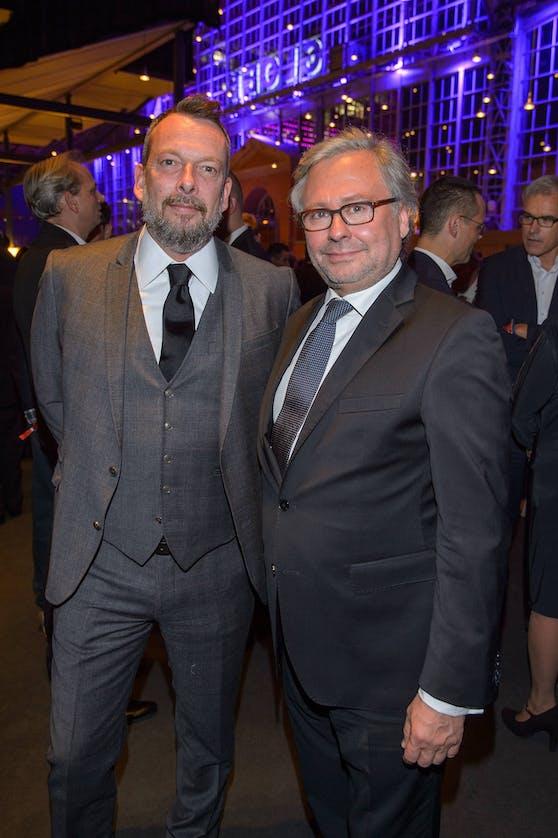 Robert Kratky mit dem jetzigen ORF-Gemeraldirektor Alexander Wrabetz