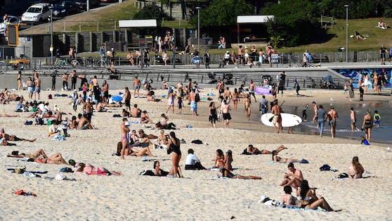 Volle Strände trotz Lockdown in Sydney