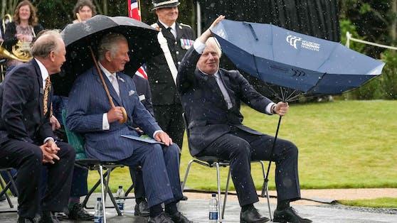 Schirm gegen Boris Johnson: 1:0