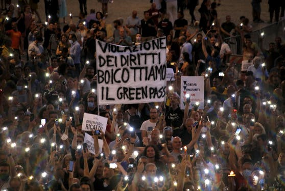 Aufstand der Italiener gegen den Grünen Pass
