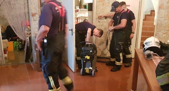 Unwetter in Brunn: Feuerwehr im Einsatz