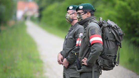 Bundesheer-Soldaten an der Grenze