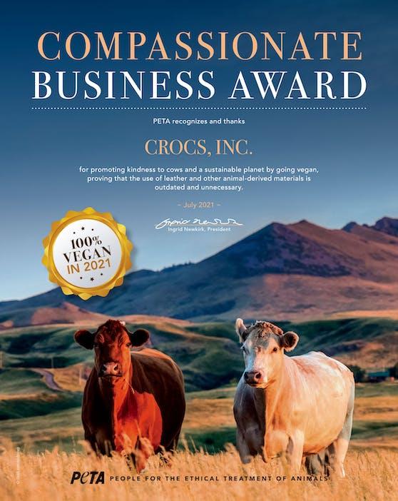 """Glückliche Kühe und das Vegan-Siegel! Ein toller Schritt für das """"Crocs""""-Unternehmen."""
