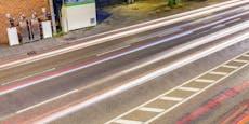 Kärntner ändern heimlich Markierungen auf Bundesstraße