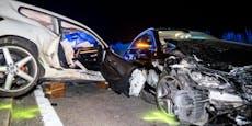 Vier Verletzte nach Mega-Crash mit Alkolenker