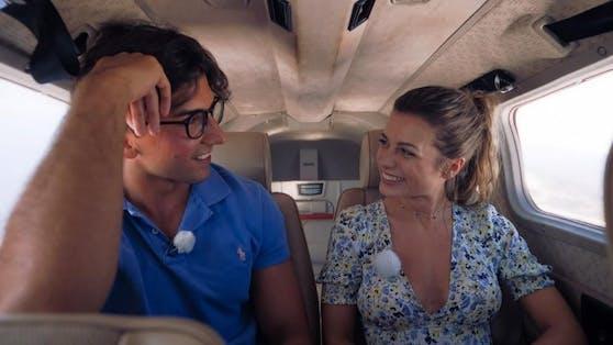 Julian und Maxime in einer Cessna.