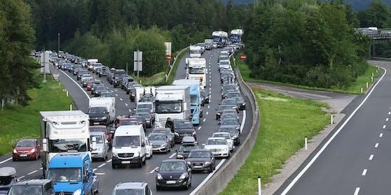 Stau auf der A1 am 31. Juli, hier allerdings im Bereich Salzburg.