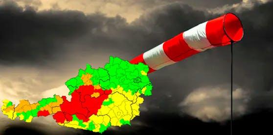 Die ersten Gewitter treffen auf Österreich