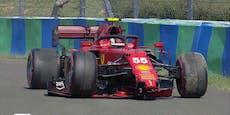 Ferrari-Pilot sorgt mit Crash für Qualifying-Abbruch