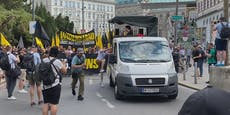 Hunderte Rechte marschierten in Wiener City auf