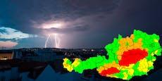 Fenster schließen! Gewitter nehmen jetzt Kurs auf Wien