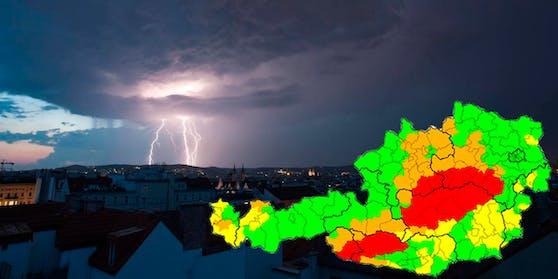 In der Nacht wird in Wien mit Unwettern gerechnet