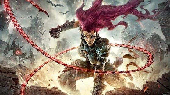 """In """"Darksiders III"""" schlüpfst du in die Rolle von Fury, einem der vier Reiter der Apokalypse, und begibst Dich auf die Jagd nach den sieben Todsünden."""