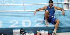 TV-Attacke, Sitzstreik: Boxer rastet bei Olympia aus