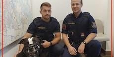 Polizisten retten ärmsten Hund von Wien