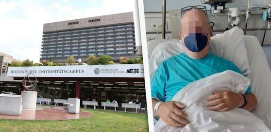 Ein Wiener (62) wurde trotz starker Blutung nicht in der AKH-Notaufnahme behandelt.