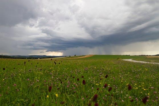 Gewitterwolken über Niederösterreich. Symbolbild