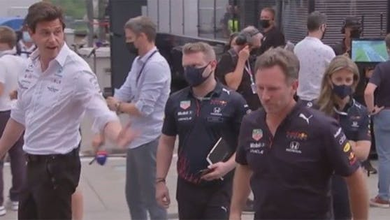 Horner (r.) verweigert Wolff den Handschlag