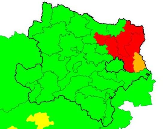 Aktuelle Unwetter-Warnungen in Niederösterreich und Wien. Stand 18.12 Uhr, 2. August 2021
