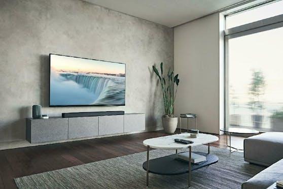 Die neue 7.1.2-Kanal-Flaggschiff-Soundbar HT-A7000 von Sony bietet überragend realistischen Surround-Sound.