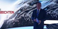 TV-Panne lässt News-Moderator im Dunkeln tappen