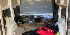 Schlepper pferchte 17 Männer aus Indien in Kastenwagen