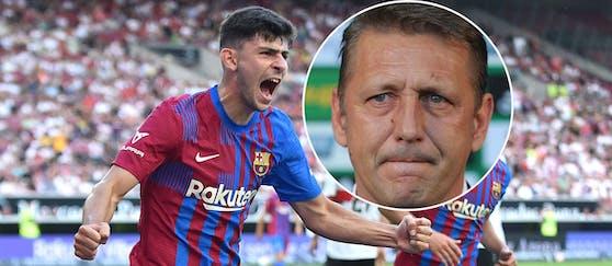 Rapid-Sportchef Zoki Barisic (r.) darf sich auf zehn Transfer-Millionen für Yusuf Demir freuen.