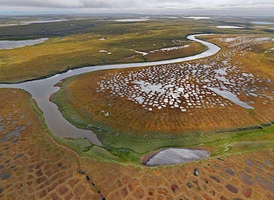 In Sibirien tauen die Permafrostböden auf - besonders nach dem Hitzejahr 2020.