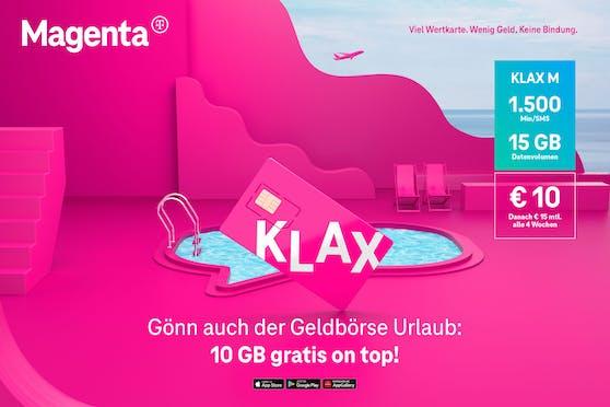 Klax-Kunden erhalten 10 GB geschenkt.