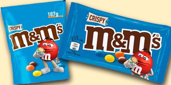 Die M&M's Crispy sind aktuell von einer Lebensmittelwarnung betroffen.