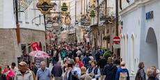 Dichtes Gedränge – Touristen stürmen Salzburger City
