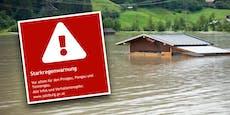 Starkregen-Unwetter! Katastrophenschutz gibt Warnung aus